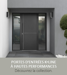 Nouvelle collection porte d'entrée K•LINE